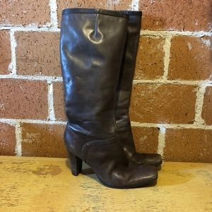 Nine West tall brown boots